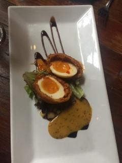 Yummy Scotch eggs at Fraunces Tavern