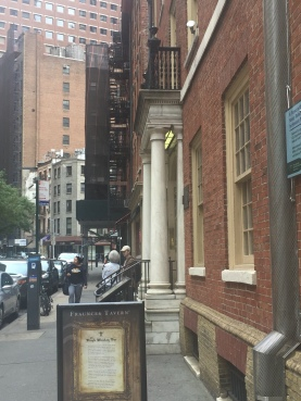 Street view of the Fraunces Tavern