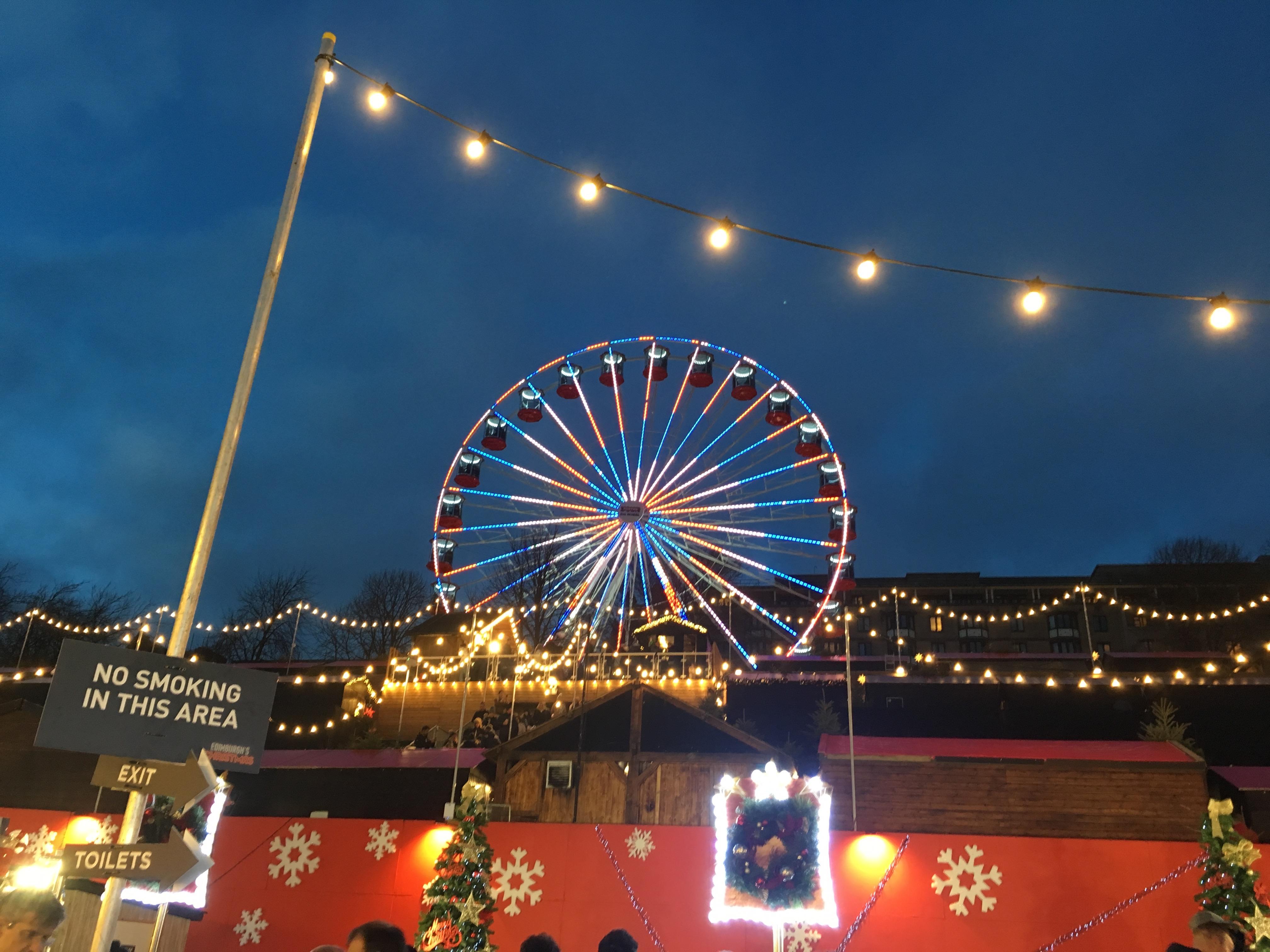 Carnival Rides Edinburgh Christmas Market