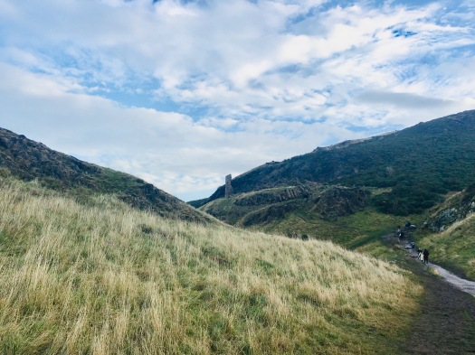 Hiking Up to Arthur's Seat