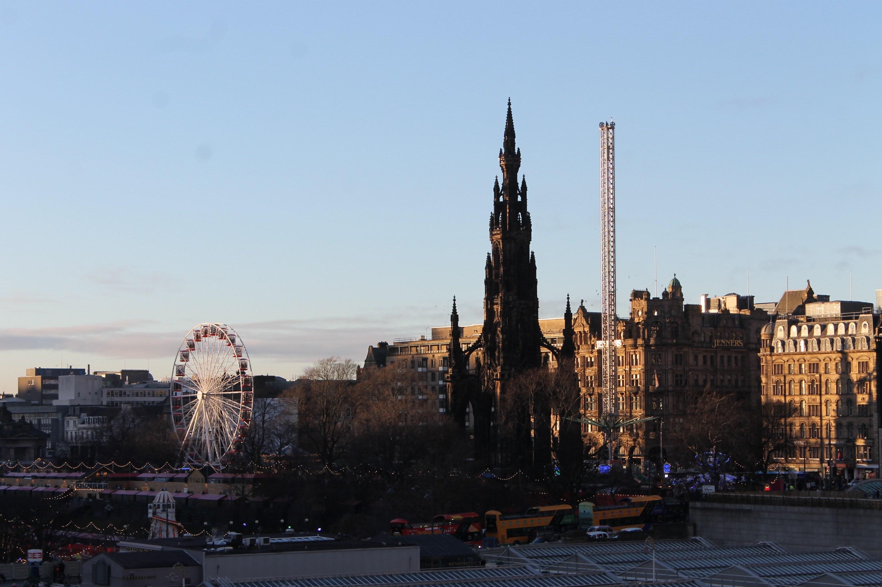 Edinburgh Christmas Market Day View