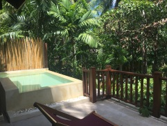 Private plunge pool at Anatara